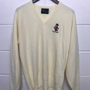 Vintage n.c. State sweater v neck 80's